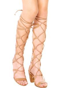 Sandália Bottero Gladiadora Bege