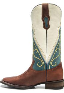 Bota Texana Feminina - Fossil Sella / Nossa Senhora Aparecida - Roper - Bico Quadrado - Cano Longo - Solado Nevada - Vimar Boots - 13055-A-Vr