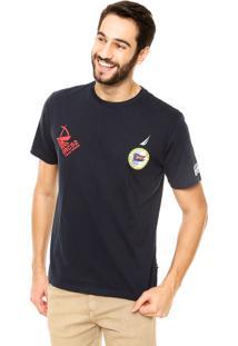 Camiseta Nautica Classic Fit Middle Azul Marinho