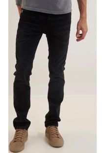 Calça John John Slim Napoles 3D Jeans Preto Masculina (Jeans Black Escuro, 42)