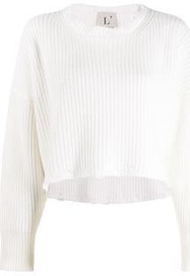 L'Autre Chose Suéter Cropped - Branco