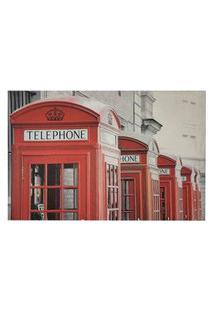 Quadro Telefone Uk Decora Sala Escritorio Tela Tecido Lona