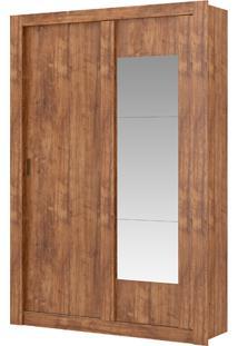 Guarda-Roupa Elus Com Espelho - 2 Portas - Native Ou Native Com Branco