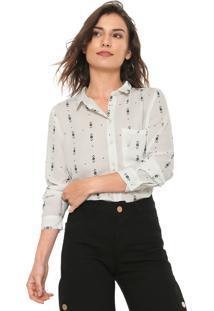 Camisa Facinelli By Mooncity Estampada Branca