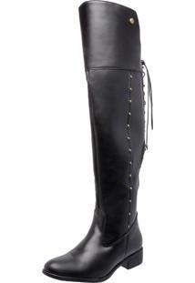 Bota Over Knee Mega Boots 979 Preto