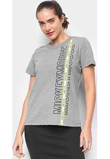 Camiseta Colcci Disney Mickey Mouse Feminina - Feminino-Grafite