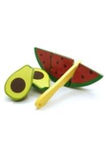 Brinquedo Kit Frutinhas Com Corte Abacate Melancia Faca 3+