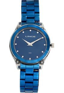 27f3db016a0 Dafiti. Relógio Azul Feminino Lince Casual ...
