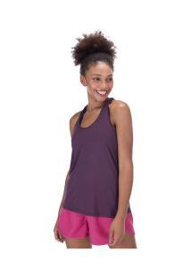 Camiseta Regata Oxer Jogging New Ii - Feminina - Roxo Escuro