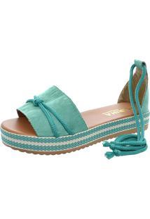 Sandalia Mariha Calçados Chic Verão Verde - Kanui