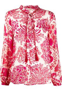 Twin-Set Abstract Floral-Print Blouse - Vermelho