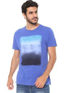 Camiseta Aramis Estampada Azul