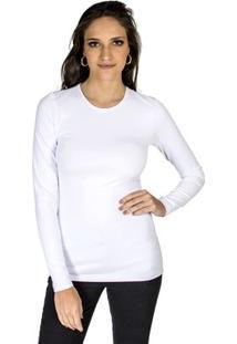 Blusa Básica Colcci Feminina - Feminino-Branco