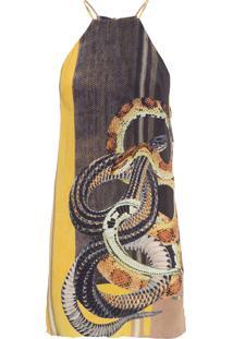Vestido Básico Cobra - Amarelo