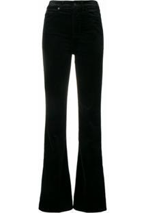 7 For All Mankind Velvet Flared Jeans - Preto
