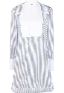 Victoria Victoria Beckham Chemise Listrado - Branco