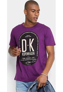 Camiseta Triton Dk Kopenhagen Masculina - Masculino-Roxo