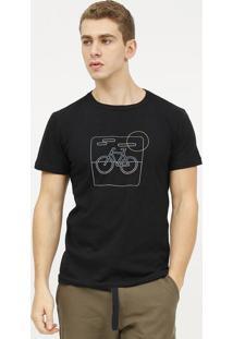 Camiseta E-Fabrics Bicicleta - Preta & Azulosklen