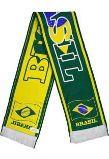Cachecol Brasil Verde E Amarelo