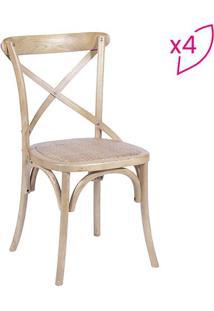 Jogo De Cadeiras Cross- Madeira- 4Pã§S- Or Designor Design