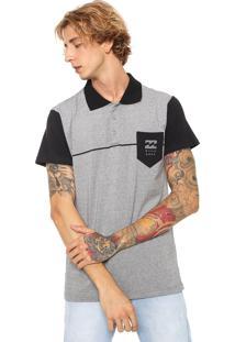 Camisa Polo Billabong Reta One Stripe Cinza
