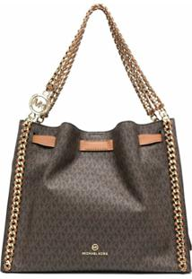 Michael Michael Kors Mina Monogram-Print Shoulder Bag - Marrom