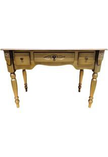 Escrivaninha 3 Gavetas - Ouro Envelhecido - Tommy Design