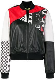 Versace Jeans Jaqueta Bomber Color Block - Preto