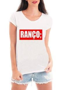 Blusa Criativa Urbana Ranço T-Shirt Feminina - Feminino-Branco