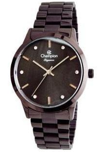 Relógio Feminino Champion Analógico - Elegance Cn24057L - Feminino-Vinho