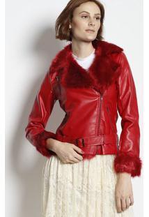 Jaqueta Com Pelúcia- Vermelha- Jô Fashionjô Fashion