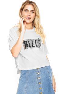Camiseta Hering Paetês Branca