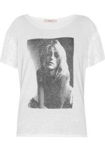 Camiseta Ana Hickmann Estampada Off-White