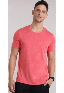Camiseta Ace Basic Dry Coral