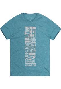 Camiseta Khelf Mescla Flame Summer Azul Claro