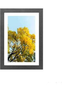 Quadro Decorativo Yellow 23X33Cm Cinza Infinity