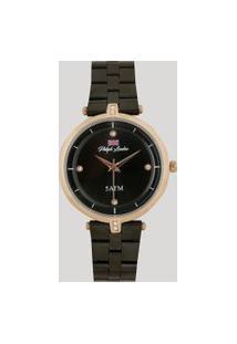 Relógio Analógico Philiph London Feminino - Pl81017113F Preto