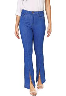 Calça Jeans Carmim Flare Orquídea Azul