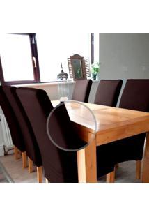 Kit Jogo 6 Capas Para Cadeira Universal Com Malha De Gel Tabaco Macio Anti Suor Casa Dona