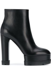 Casadei Ankle Boot Com Plataforma 140Mm - Preto