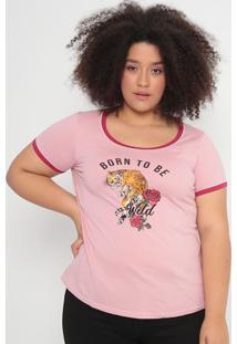 Blusa Com Inscrições- Rosa Claro & Rosa- Malweemalwee