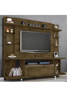 Estante Para Tv Até 55 Polegadas New Torino Rústico - Bechara Móveis