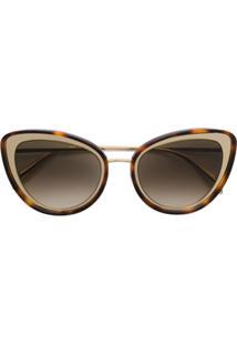 ... Alexander Mcqueen Eyewea Óculos De Sol Gatinho Degradê - Marrom cbe731437b
