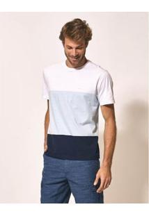 Camiseta Aviator Split Masculina - Masculino-Branco