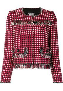 Boutique Moschino Jaqueta De Tweed - Vermelho