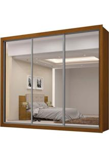 Guarda-Roupa Persia New Com Espelho - 3 Portas - 100% Mdf - Imbuia Mel