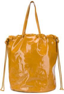 Sharkchaser Logo Embossed Bucket Bag - Marrom