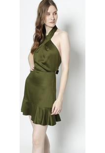 e737510e99 Vestido Militar Ziper feminino