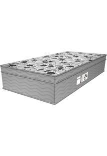 Colchão Solteiro Molas Ensacadas Style Plw Euro (32X88X188) Branco E Cinza