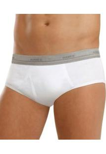 Kit Com 2 Cuecas Slip Hanes Men'S Underwear (2249) 100% Algodão
